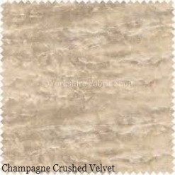 champagne crushed velvet fabric swatch